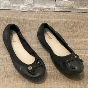 SPERRY TOP SIDER BLACK LEATHER FLAT - Size 8.5
